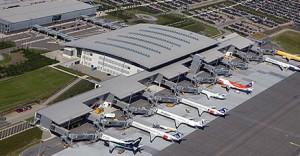 Billund lufthavn set fra luften