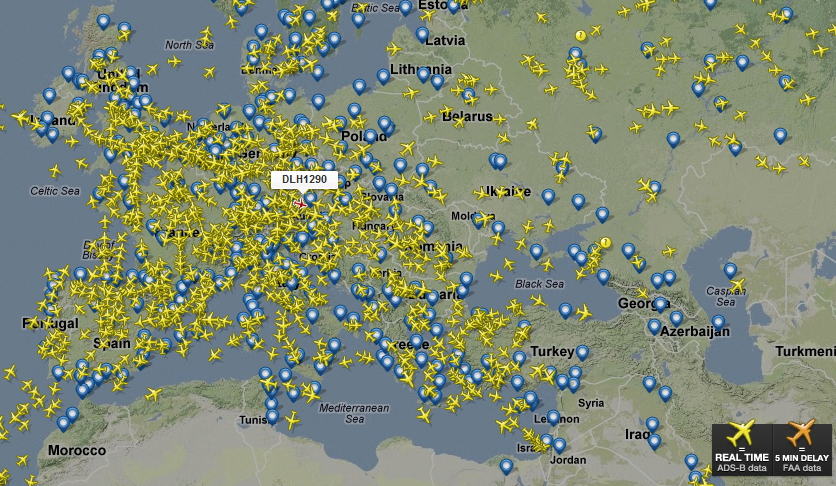 Flighttracker Se Flytrafik Online Fly Radar Dk