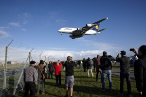 Flyspottere samlet ved Kastrup lufthavn